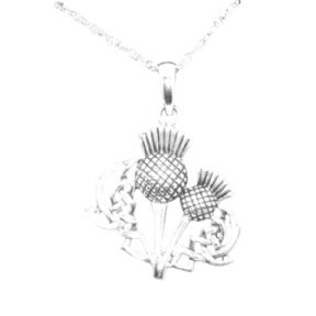 Scottish Thistle Silver Pendant 'Agnes' 0896